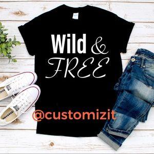 Wild & FREE graphic T-shirt's